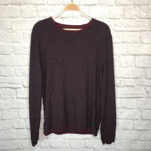 LOWEST PRICE UO Denim & Flower maroon sweater
